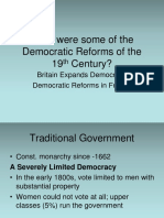 Democratic Reforms of the 19th Century England France