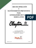 Uro e Operación y Mantenimiento Preventivo Para Clayton de Vapor Modulantes