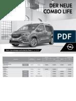 2018.06.04 Preisliste Neuer Opel Combo Life 19 PRL D