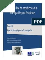 2.6. Apectos Éticos y Legales en Investigación