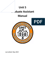 unit 5 graduate assistant manual