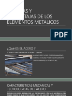 Ventajas y Desventajas de Los Elementos Metalicos