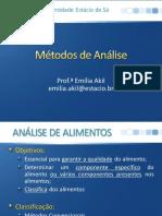 Aula 4.1 - Metodos de Analise de Alimentos_quarta Noite