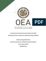 Informe Final - Analisis de Integridad Electoral Bolivia 2019 (OSG)