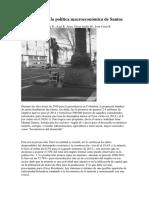 A Propósito de La Política Macroeconómica de Santos