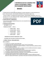 I Torneo Interescolar de Ajedrez Por Equipos Jorge Basadre Grohmann