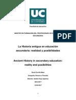 Zorrilla, David -Historia antigua en la secundaria