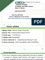 2nd Yera Regular Nursing - CDC Ppt (2)