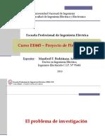 EE445 - Clase 2T2 - El Problema de Investigación 2019-II