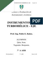 Instrumentos de Turbohélice - Eje
