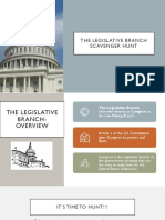 Legislative Branch Scavenger Hunt