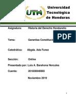 Historia Del Derecho Hondureño Luis Barahona - Garantias Constitucionales