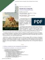 Marcelino Suárez Ardura, Filosofía de La Geografía. Crítica de La Geografía Humana _ Pentalfa