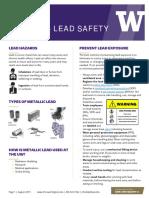Metallic Lead Safety