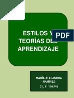 Teorías y Estilos de Aprendizaje - Cuadro Descriptivo y Comparativo