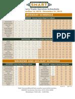 Interim Schedule for SMART Dec. 14-Jan. 1