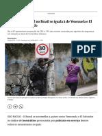 Letalidade Policial No Brasil Se Iguala à de Venezuela e El Salvador, Diz Estudo