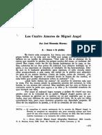 Los cuatro amores de Miguel Ángel