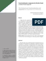 Funcionalização e Expansão Do Direito Penal - A Justiça Negocial