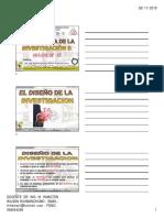 Clase 07 2019 II El Diseño de La Investigacion Final Diapositivas