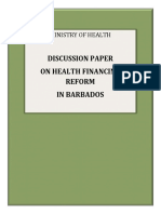 Discussion Paper on Health Financing in Barbados January R4 2016