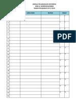 Checklist Pelaksanaan Supervisi