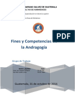 Fines y Competencias de La Andragogia (1)