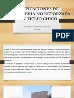 Edificaciones de Albañilería No Reforzada en Ticlio Chico