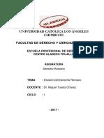 División Del Derecho Romano_tarea 2