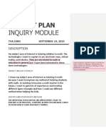 thainquiry module project plan template  3