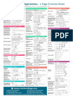 Analysis and Approaches 1 Page Formula Sheet