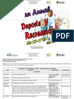 Plan Anual de Educ. Fíisica, Deporte y Recreación 2019-2020