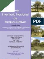 1º inventario nacional de bosques de espinal