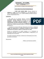 Certificado y Carta de Presentacion