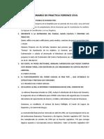 Cuestionario de Practica Forence Civil