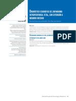 Diagnóstico ecográfico de linfangioma retroperitoneal fetal, con extensión a miembro inferior