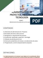 Administración de Proyectos, Procesos y Tecnología
