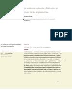 Origin of Angiosperms -Evidencia Fósil y Molecular-2012.en.es