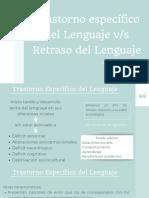 Trastorno especifico del lenguaje
