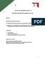 MÓDULO de APRENDIZAJE Nº1 Frenos, Principios Hidráulicos y Composicion