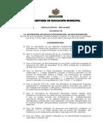 Resolucion Banco de Oferentes 2006