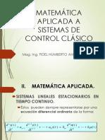 Clase 2 Matemática Aplicada y Función de Tranferencia
