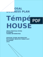 """PROPOSAL Bussiness plan """"Tempe House"""""""