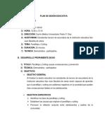 Plan de Sesión Educativa Pandillaje y Cutting