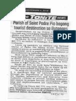 Abante Tonite, Dec. 5, 2019, Parish of Saint Padre Pio bagong tourist destination sa Batangas.pdf