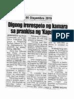 Hataw, Dec. 5, 2019, Digong irerespeto ng kamara sa prankisa ng Kapamilya.pdf