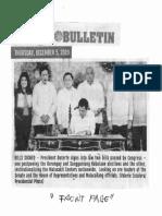Manila Bulletin, Dec. 5, 2019, Bills Signed Pres. Duterte signs into law two bills passed by  Congress one postponing the Barangay and Sangguniang Kabataan elections.pdf