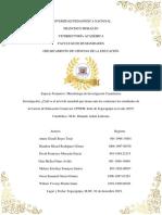 Ansiedad Ante Los Exámenes, EDUCOMER,UPNFM.TEG.2019