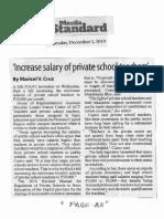 Manila Standard, Dec. 5, 2019, Increase salary of private school teachers.pdf