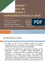 Nuevos Equipos y Tecnologias en Pasteurizacion y Homogenizacion
